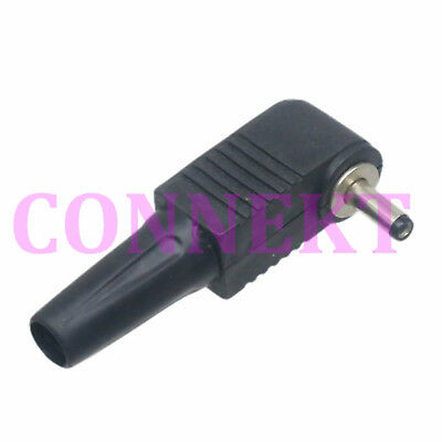 5pc DC Power Male plug right angle Connector 4.8mmx1.7mm Adapter Plastic Yellow