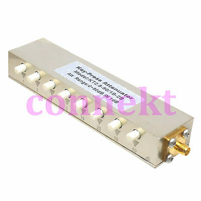 RF Coaxial Adjustable Step 1db Attenuator SMA connector DC-2.5GHz 10Watts 0~90dB
