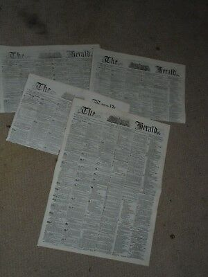4 Issues Of Colonial Melbourne Newspapers..the Herald 1857