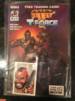 Mr. T And The T-Force #3 Now Comics Book With Trading Card Sealed Polybag VF