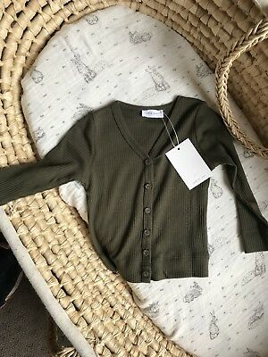 JAMIE KAY COTTON MODAL CARDIGAN - Olive green 6-12 m sold out online