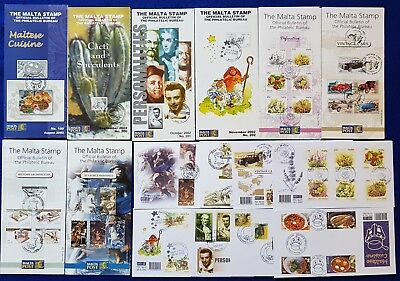 RARE Malta SHC SPECIAL HAND CANCELLED Leaflet + FDC ISSUE Numbers 199-206