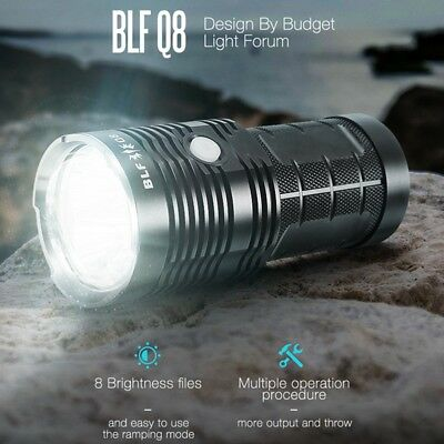 BLF Q8 4x XP-L 5000LM Professional LED Flashlight Troch Super Bright Waterproof
