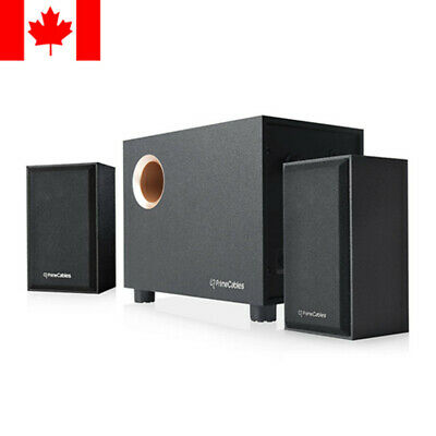 PrimeCables® 2.1 Multimedia Stereo Powered Speaker and Subwoofer Set PC Computer