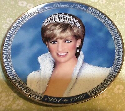 The Princess Diana Tribute Plate--Franklin Mint--I998