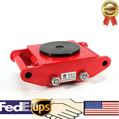 360° Rotation Heavy Duty Machine Dolly Skate 4 Roller Machinery Mover 6T/13200lb