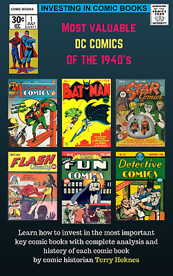 INVESTING IN COMIC BOOKS - DC 1940s Top Most Valuable Books Golden Age hero +