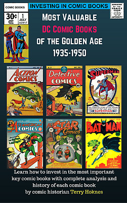 INVESTING IN COMIC BOOKS - DC Top Most Valuable Books Golden age 1935-1950