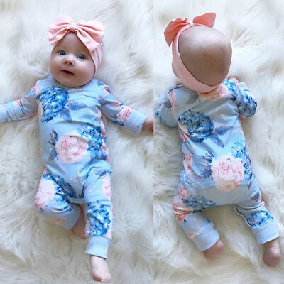 9ae8e5c1afa7 Newborn Kid Baby Girls Floral Romper Bodysuit Jumpsuit Outfits Clothes  Playsuit