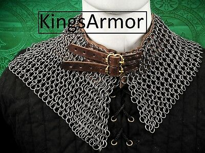 Chain-Mail-Avential-Collar-9-mm-18-Gauge-Butted-Ring-Black