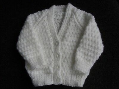 new baby girls or boys hand knitted cardigan