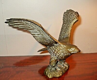 Rare Vintage Cast Eagle Flagpole - Weather Vane Topper - Manganese Bronze ?