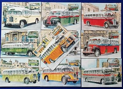 Malta Lot/Collection Of 10 used SHC End of an Era MALTESE BUSES MAXIMUM cards #1