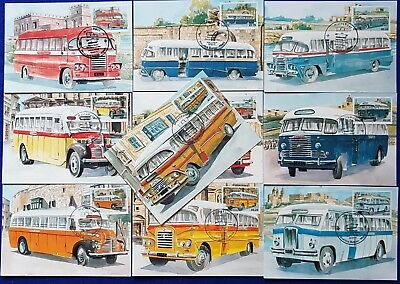 Malta Lot/Collection Of 10 used SHC End of an Era MALTESE BUSES MAXIMUM cards #2