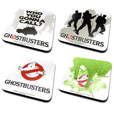 Ghost Busters Coasters Who You Gonna Call? Ghostbusters Retro Movie Game Geek