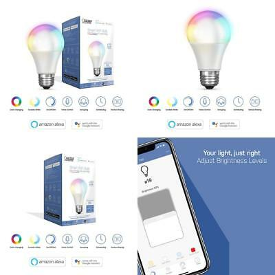 FEIT Electric Smart WiFi LED Color Changing and Dimmable A19 Light Bulb, No...