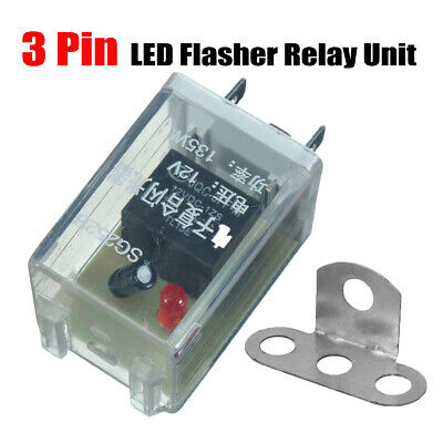12V 3 Pin LED Flasher Relay Unit For Car Turn Signal Indicator Blinker Flash OZ