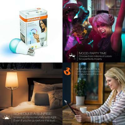 SYLVANIA SMART+ ZigBee Bulb, Color Changing and Dimmable A19 LED 60 Watt...