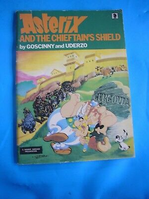 ASTERIX AND THE CHIEFTAIN'S SHIELD by Goscinny & Uderzo Comic Book 1981