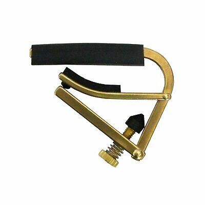 Shubb C1B Steel String Acoustic and Electric Guitar Capo, Brass