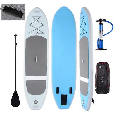 New 10ft Inflatable Stand Up Paddle Board SUP Fin Adjustable Paddle Backpack