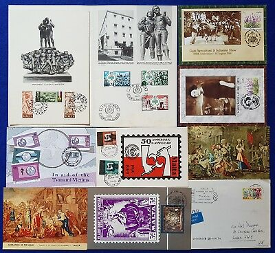"""Malta Lot of 10 Cards Occasion SHC""""s, postal cards and Limited signed Cards"""