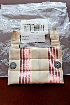 NIB Longaberger AWNING STRIPE HANDLE GRIPPER #20145137