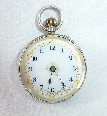 Antique Ladies Silver Pocket Fob Watch - 1909 - 925 Silver - Swiss Movement