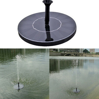 Outdoor Solar Power Floating Bird Bath Water Fountain Pump Garden Pond Pool