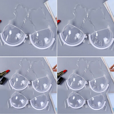 0091988f7a USA Lady 3  4 Cup Transparent Clear Push Up Bra Strap Invisible Bras  Underwire
