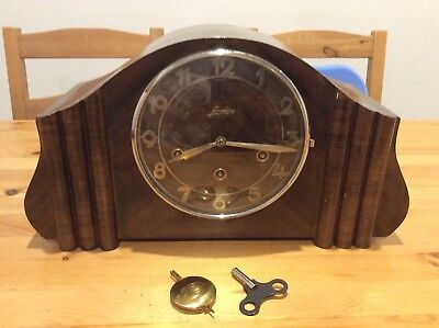 Vintage Art Deco Junghans Mantle Clock; Germany; Decorative; Collectable