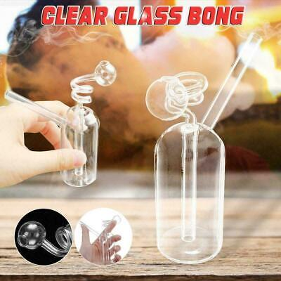 11cm Clear Hookah Water Glass Bong Smoking Pipes Shisha Tobacco Bowl Bottle Kit