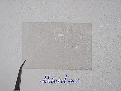"""3""""x4""""  ( 77mm x 100mm ) Mica sheet for French stove/woodburner windows"""