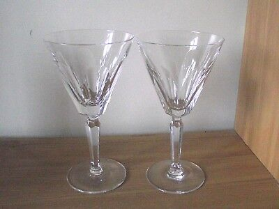 2 Waterford Crystal Sheila Water / Large Wine Glasses.
