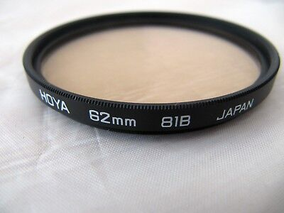Hoya  62mm  81B Colour Correction / Warm Up  Filter Good Condition