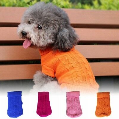 Pet Dog Cat Puppy Warm Jumper Sweater Knitted Coat Jacket Autumn Winter Costume