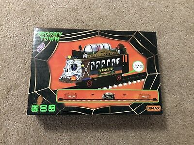 Halloween Lemax Signature Collection New Spooky Town Train  Very Rare!!! New
