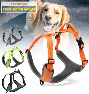 3M Reflective Waterproof No Pull Dog Harness Night-Time Visibility Mesh Chest US