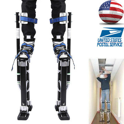 "Adjustable 24-40"" Drywall Stilts Aluminum Tool Stilt For Painting Painter Taping"