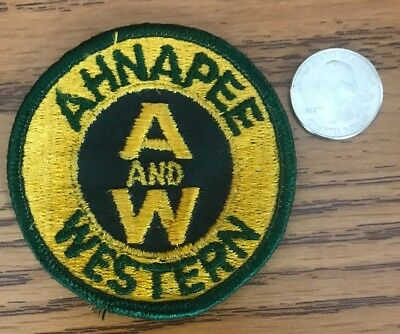 Vintage Ahnapee and Western Railroad Patch New Old Stock