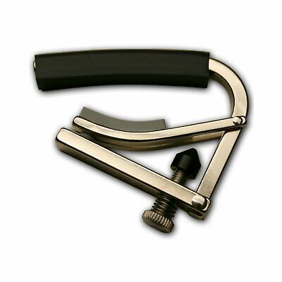Shubb C4 Radically Curved Electric Guitar Capo, Polished Nickel