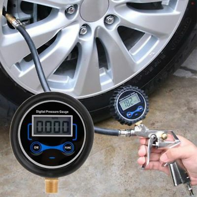 Digital Tire Pressure Gauge Car Bike Motorcycle Tyre Tester Air PSI Meter 1/8NPT