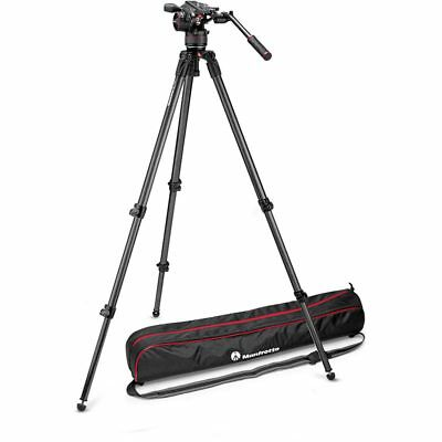 ManfrottoNitrotech N8 Fluid Video Head with 535 2 Stage Tripod Kit