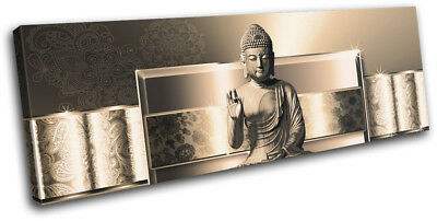 Buddha Buddhism Floral Modern Abstract SINGLE CANVAS WALL ART Picture Print