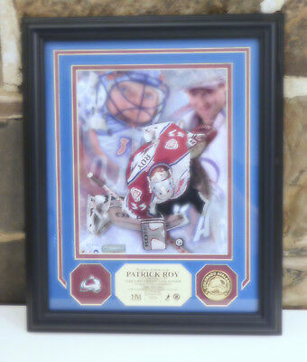 Patrick Roy Highland Mint Photo 24 Kt. Gold Overlay Medallion,and Pin