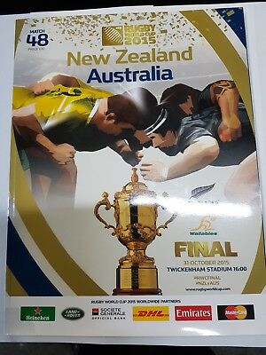 9762 - Rugby World Cup 2015 FINAL - Australia v New Zealand Programme 31/10 RWC