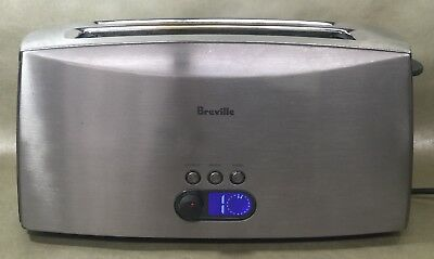 Breville CT75XL 4 Slice Toaster Bagel Wide Long Slots Stainless Steel 1500W