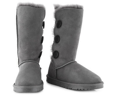 OZWEAR Connection Classic 3 Button Long Boot - Charcoal