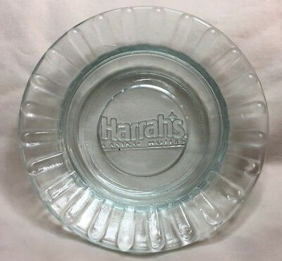 "Harrah's Casino Hotel, Las Vegas, Ashtray,  4.5"" Round, Scalloped"