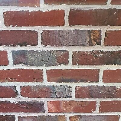 Urban Red House Stone Brick Wall Wallpaper Rustic Realistic Slightly Imperfect